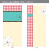 4x9 Rack Card Brochure Template Stock Photo