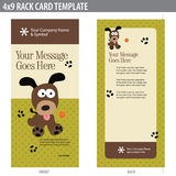 4x9 Rack Card Brochure Template. 4x9 rack card template (includes crop marks, bleeds, and key line - elements in layers royalty free illustration