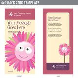 4x9 Rack Card Brochure Template Stock Images