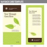4x9 Rack Card Brochure Template. (includes crop marks, bleeds, and key line - elements in layers royalty free illustration