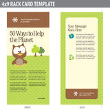 4x9 Rack Card Brochure Template Royalty Free Stock Photos