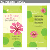 4x9 Rack Card Brochure Template. (includes crop marks, bleeds, and key line - elements in layers stock illustration