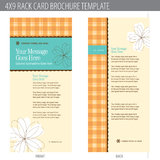 4x9 Rack Card Brochure Template. (includes cropmarks, bleeds, and keyline - elements in layers stock illustration
