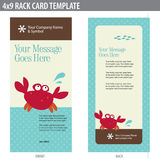 4x9 Rack Card Broshure Template. 4x9 Rack Card Template (includes cropmarks, bleeds, and key line stock illustration