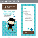 4x9 Rack Card Template. After-school activities 4x9 Rack Card Template front and back stock illustration