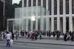 5ème Avenue Apple Store à Manhattan Image libre de droits