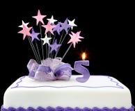 5ème gâteau Photographie stock