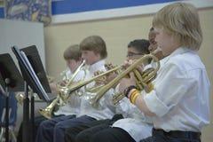 5èmes joueurs de trompette de pente Photos stock