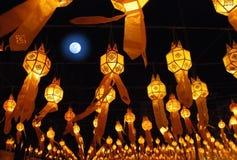 5个中国灯笼 库存照片