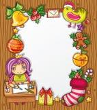 5个信函圣诞老人系列 库存图片