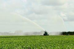 5个农厂灌溉地产 免版税库存图片