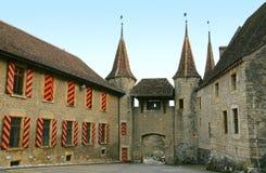 5个城堡瑞士 免版税库存照片
