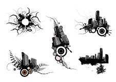 5个城市设计向量 免版税库存照片