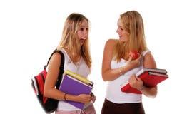 5个女孩高三学生 免版税库存图片