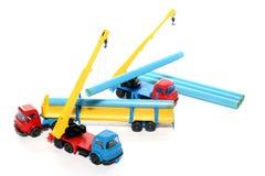 5个建筑玩具工作 免版税库存图片