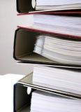 5个文件夹文书工作 免版税库存图片