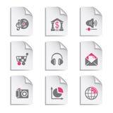 5个文件灰色集 免版税库存图片