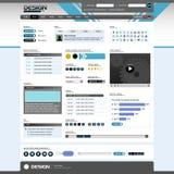 5个明亮的设计要素主题向量万维网 库存图片