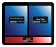 5个概念ipad 免版税库存图片