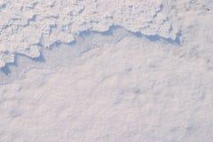 5个模式雪纹理 免版税库存照片