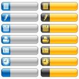 5个横幅按钮图标万维网 免版税库存图片