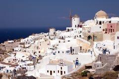 5个海岛santorini 免版税库存图片