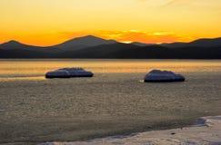 5个海湾横向vladimir冬天 库存照片