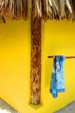 5个海滩cozumel房子灰泥 免版税图库摄影