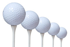 5个球高尔夫球照片股票 库存照片