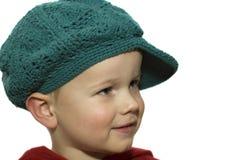 5个男孩帽子一点 库存照片