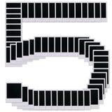 5个空白摄制编号人造偏光板 库存图片