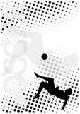 5个背景小点海报足球 皇族释放例证