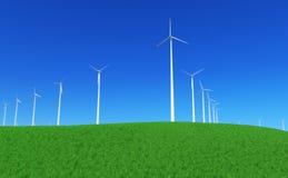 5个能源绿色 库存照片
