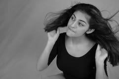 5个舞蹈头发 免版税图库摄影