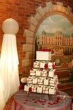 5个蛋糕婚礼 免版税库存照片