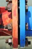 5个螺栓螺母系列 免版税库存照片