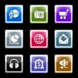 5个颜色屏幕集 免版税库存图片