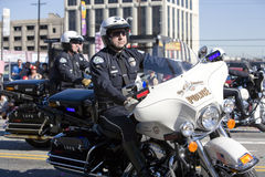 5中国人警察形成新的游行年 免版税库存照片