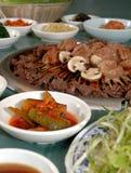 5串烤肉韩文 库存照片