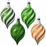 5件圣诞节装饰品卷 免版税库存图片
