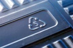 5信箱号塑料回收符号 库存图片
