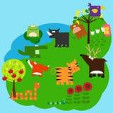 5动物 向量例证