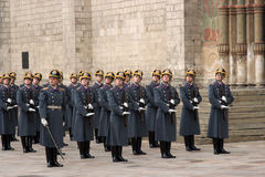 5卫兵克里姆林宫莫斯科 免版税库存照片