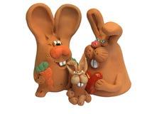 5只兔子 免版税库存照片