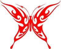 5只蝴蝶火焰状部族向量 库存图片