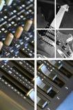 5台搅拌机音乐 库存照片