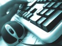 5台计算机办公室 免版税图库摄影