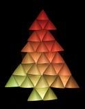 5圣诞节色的结构树 库存照片