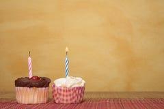 5块杯形蛋糕 免版税库存照片