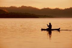 5孤独的渔夫 免版税库存图片